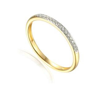 Pierścionek złoty LINE z diamentami AW 71735 Y próba 585