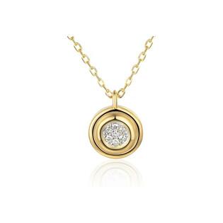 Naszyjnik złoty kółko z diamentami/rolo AW 79603-08920 YW próba 585