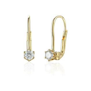 Kolczyki złote LUNA z diamentami/big.zam. AW 74222 YW-0,39 próba 585