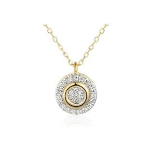 Naszyjnik złoty SWEET kółko z diamentami/rolo AW 71726-08916 YW próba 585