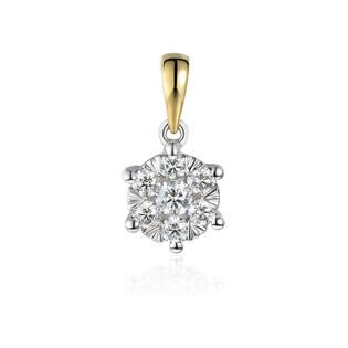 Zawieszka złota LUNA z diamentami AW 74222 YW-0,28 próba 585