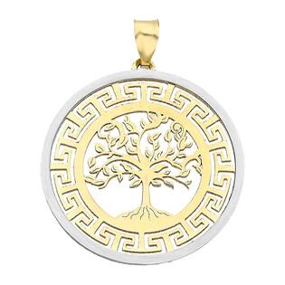 Zawieszka złota drzewko ażur+greka dwa kolory nr OS 129-L144 próba 585