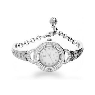 Zegarek cyrkonie okrągły+uszka AT Z0031 próba 925