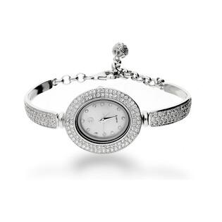 Zegarek cyrkonie owal m.perłowa AT Z0018 próba 925