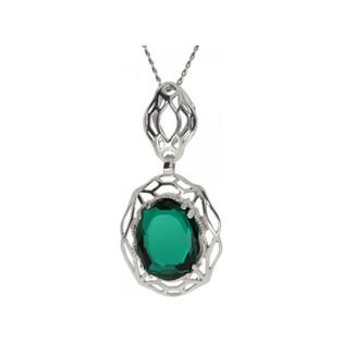 Zawieszka BRILAS BASKET KP 05552 owal Emerald próba 925