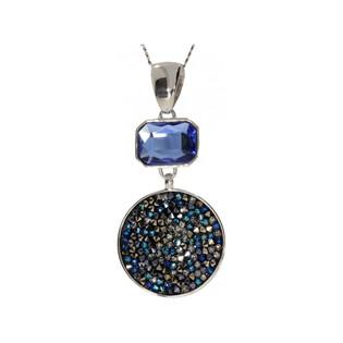 Zawieszka BRILAS UNIQUE KP 05530 Metalic Blue+Emerald próba 925