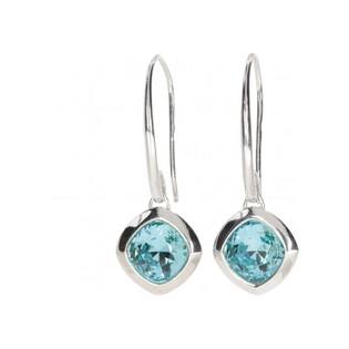 Kolczyki BRILAS ICE z kryształem Swarovski/rybka KP 05473 Turquoise próba 925