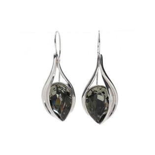Kolczyki BRILAS CALLA/rybka KP 05463 Milk Black Diamond próba 925