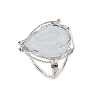 Pierścionek BRILAS WIRE kropla KP 05513 White Crystal próba 925
