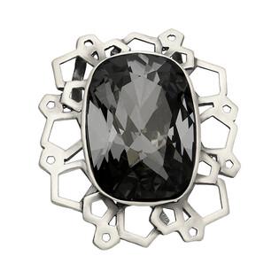 Zawieszka BRILAS SCREWS satin KP 05005-1 owal Black Diamond próba 925