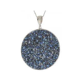 Zawieszka BRILAS DEW koło z kryształami Swarovski KP 05138 Crystal Moonlight próba 925