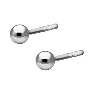Kolczyki srebrne dmuchana kulka 3 mm/sztyft NI KULKA-3mm ROD próba 925