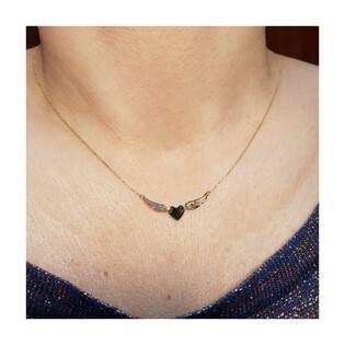 Naszyjnik złoty serce z ażurowymi skrzydłami/rolo LP 47K65-FON0288-Y próba 585